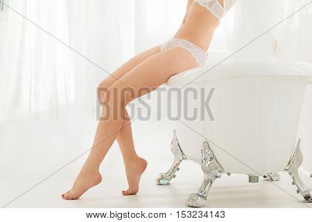 Sex Nude Seduction Legs Body Spa Care Health Beauty Concept