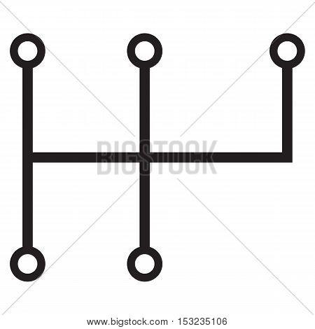 Transmission icon car stick gear icon manual