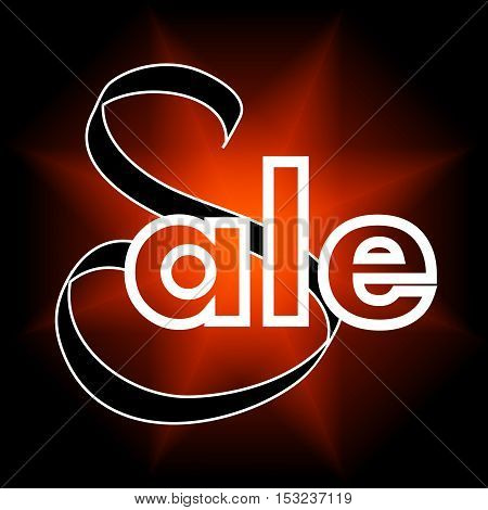 colorful vector sale sign  over bright  background. Elements for your design. Eps10