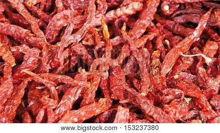 Dried chilies background
