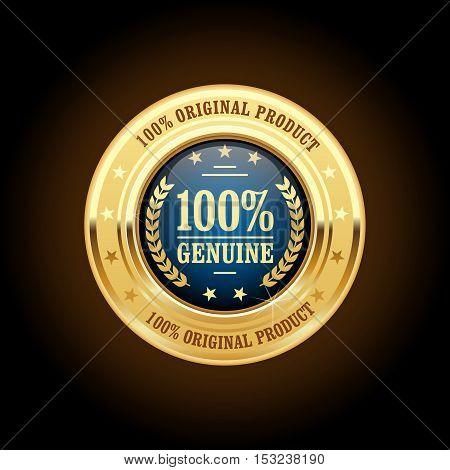 Genuine original product golden insignia (round medal)