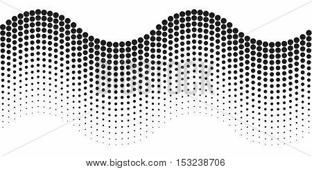 Abstract halftone wavy line. Seamless pattern vector illustration