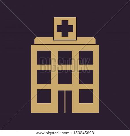 The hospital icon. Medical and ambulance, emergency, healthcare symbol. Flat Vector illustration