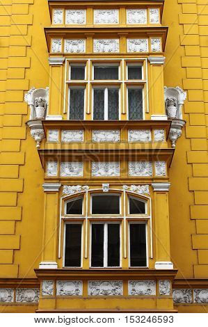 Some renaissance windows in Prague, Czech Republic