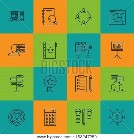 Set Of Project Management Icons On Investment, Personal Skills And Decision Making Topics. Editable