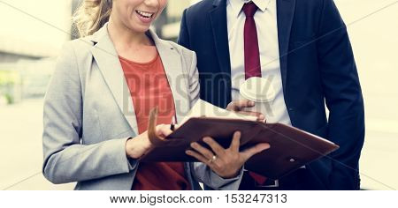 Business People Discussion Happiness Coffee Togetherness Concept