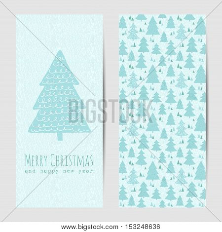 Vector greeting card or banner for Christmas and New Year
