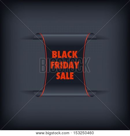 Black Friday sale black tag vector. Black friday design illustration.