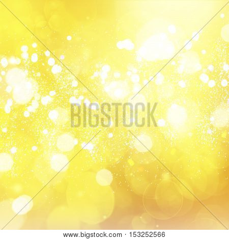christmas bright yellow lights bokeh defocused background