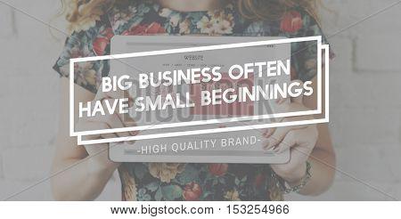 Big Business Brand Commerce Company Grand Concept