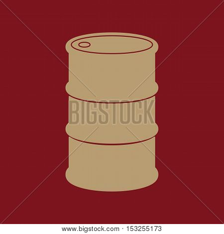 The barrel icon. Barrel symbol. Flat Vector illustration