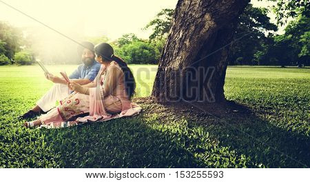 Indian Couple Love Care Concept