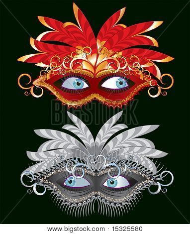 Vector carnival mask-carnaval illustration series