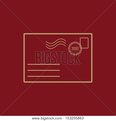 The envelope icon. Mail symbol. Flat Vector illustration