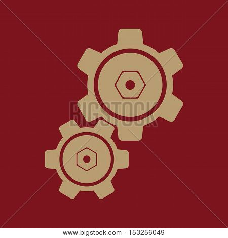 The settings icon. Gears symbol. Flat Vector illustration
