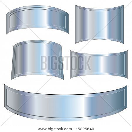 Isolated metallic boards(vector at portfolio)