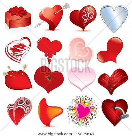 Collection of various hearts 2 (vector id=45554410)