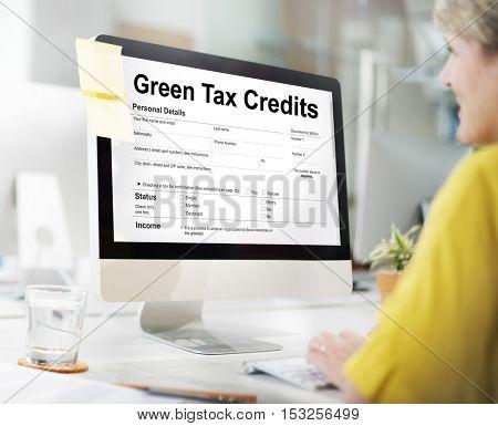 Green Tax Credits Investment Saving Debates Concept