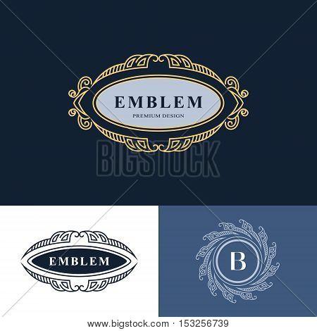 Line graphics monogram. Elegant art logo design. Emblem. Graceful template. Business sign identity for Restaurant Royalty Boutique Cafe Hotel Heraldic Jewelry Fashion. Vector elements