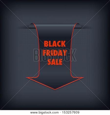Black Friday sales banner. Black Friday sale arrow tag vector. Black friday design illustration.