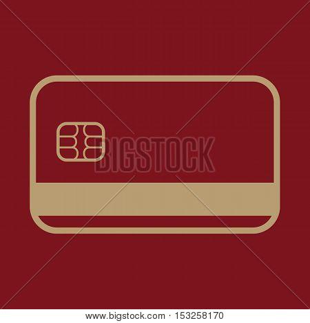The credit card icon. Bank card symbol. Flat Vector illustration