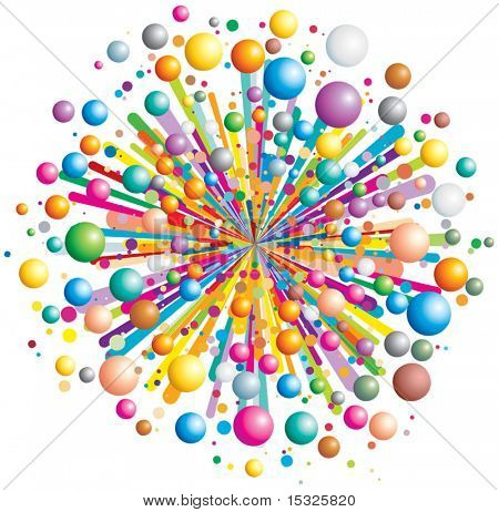 Colorful vector explode
