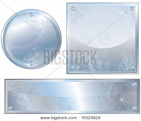 Brushed Platinum signs,Vector illustration