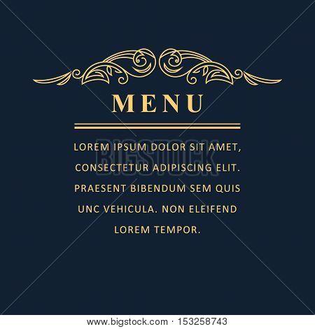 Line graphics monogram. Elegant art logo design. Emblem. Graceful template. Business sign identity for Restaurant menu Royalty Boutique Cafe Hotel Heraldic Jewelry Fashion. Vector elements