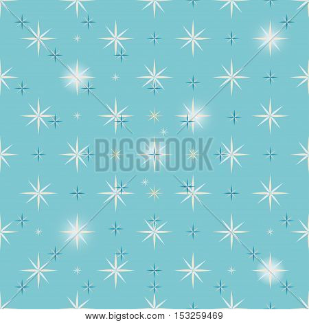 Christmas star background. New year vector illustration.