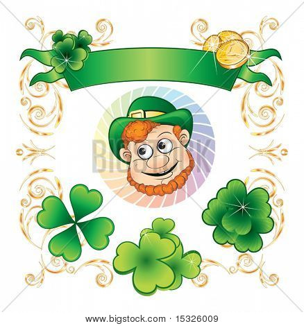 St.Patrick's day vector isolated symbols set