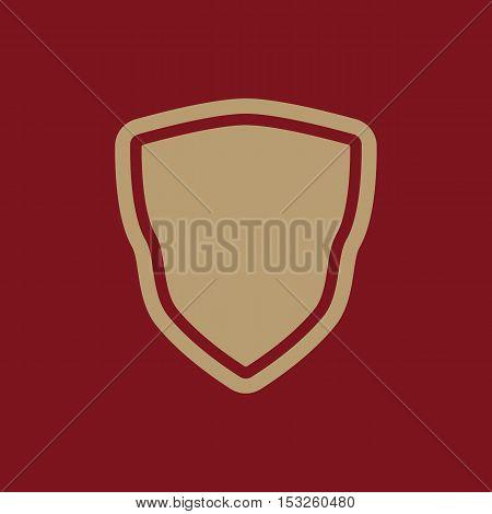 The shield icon. Shield symbol. Flat Vector illustration
