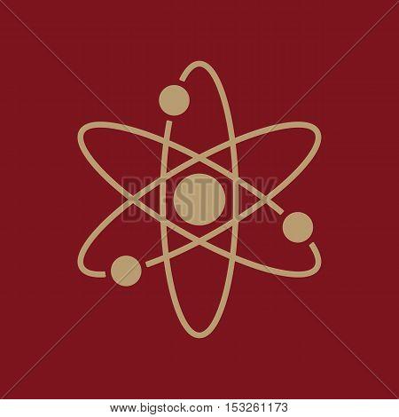 The atom icon. Atom symbol. Flat Vector illustration