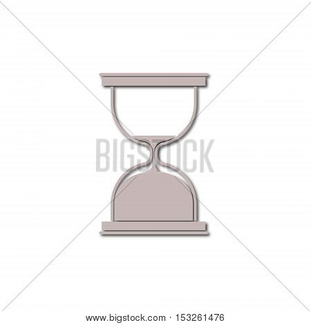 Simple Sand Hourglass icon on white background