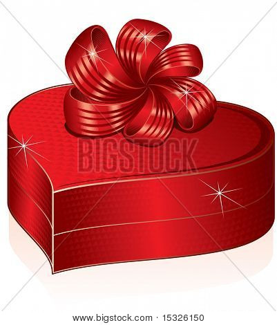 Stylized heart shaped gift -vector version id=48656755