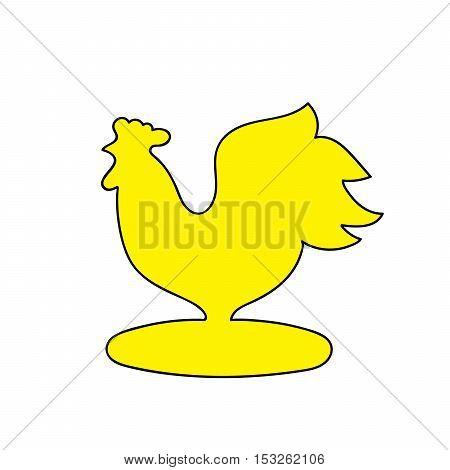 rooster, symbol of 2017, symbol, chicken, yellow bird