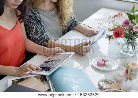 Working Technology Notebook Computer Online Concept