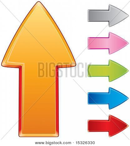 Beveled vector arrow sign-vector