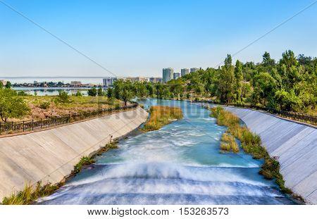 Bolshaya Almatinka river in Almaty city - Kazakhstan