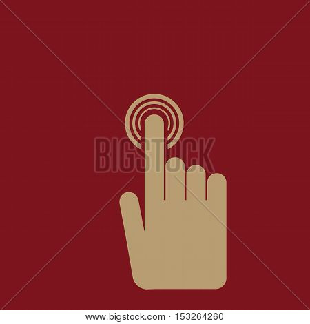 The hand click icon. Cursor symbol. Flat Vector illustration. Button