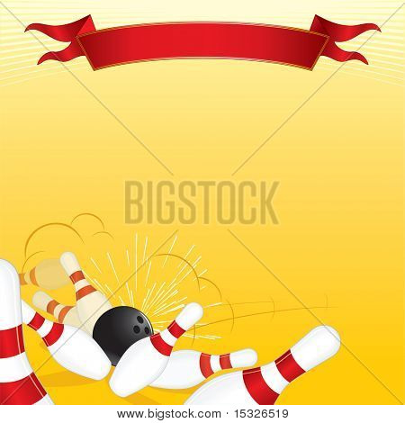 Bowling theme vector background for text