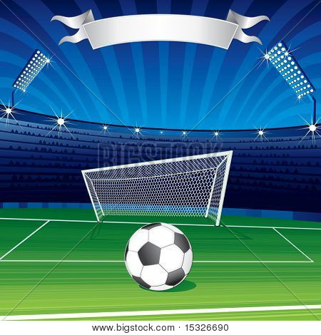 Football poster for your text (see vector at portfolio)