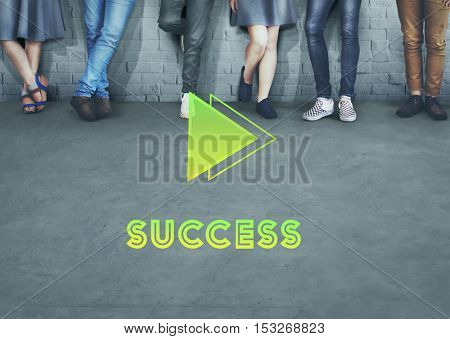 Goals Aim Forward Positivity Success Mission Concept