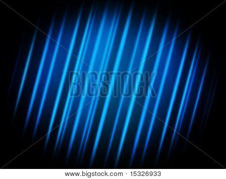 blue glowing strikes on black