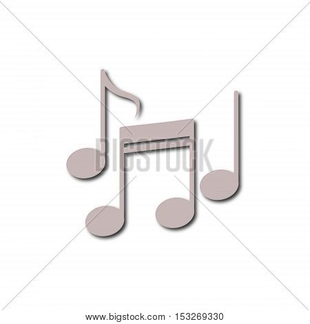 Simple Music notes icon on white background
