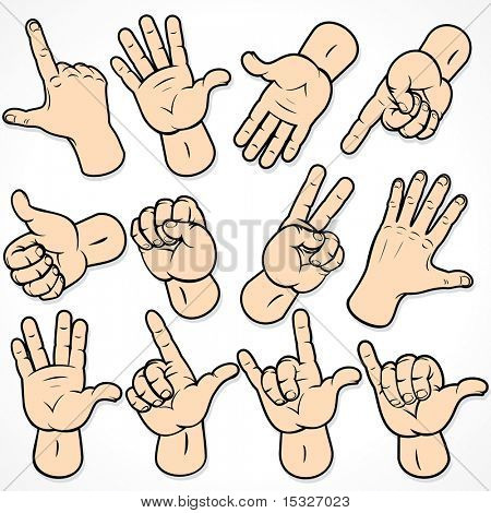 Hand Gestures and signals -set of vector icons for your design -MORE SIMILAR AT MY GALLERY