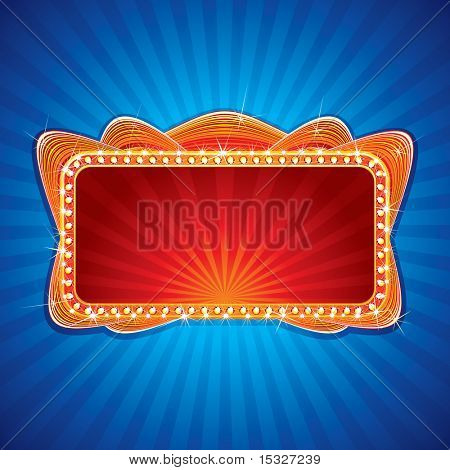 Glowing Neon sign background - vector illustration for your festive design or greeting text