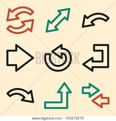 Arrows icon, next step vector web sign.Business infographics symbols.