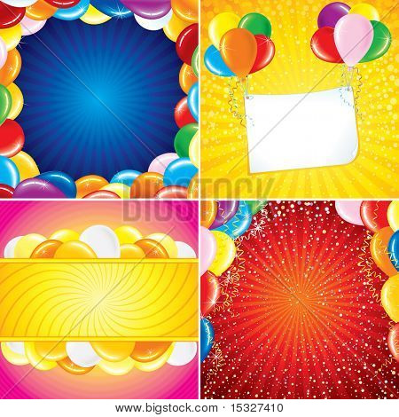 Colorful Brightly Card Backgrounds for your Festive design art (version vector at my gallery)