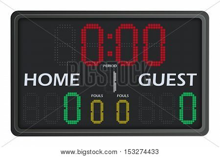 Illustration of a LED Multisports Scoreboard with Numbers