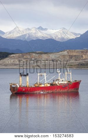 Fishing Boat Sailing In Beagle Channel